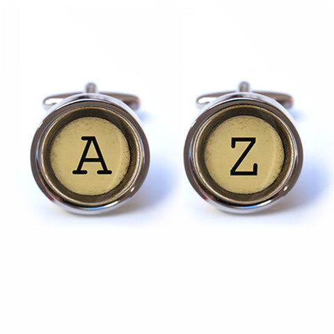 Personalised Typewriter Initial Cufflinks