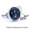 Personalised Wedding Anchor Cufflinks - Different Roles Available