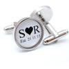 Personalised Initials and Date Wedding Cufflinks