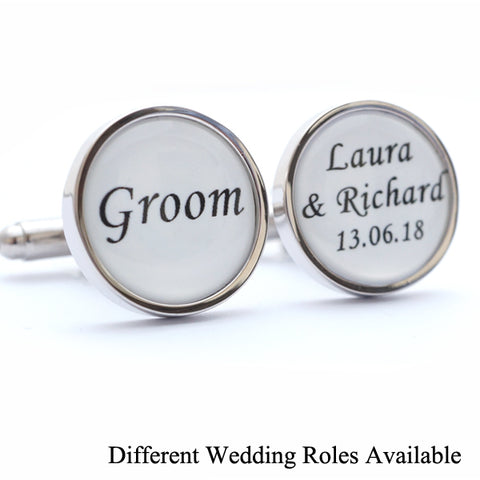 Custom Wedding Cufflinks for all the Wedding Party