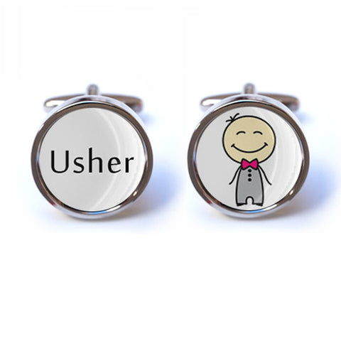 Usher Cufflinks with Illustration
