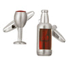 Red Wine Bottle & Glass Cufflinks