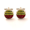 Zombie Warning Cufflinks