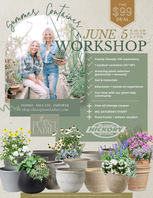 The Summer Container Workshop hosted by Those Plant Ladies at Mike Johnson's Hickory Toyota