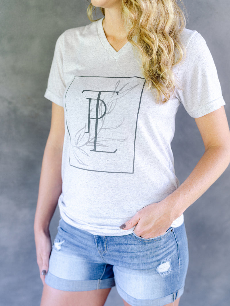 TPL Monogram V-Neck T-Shirt