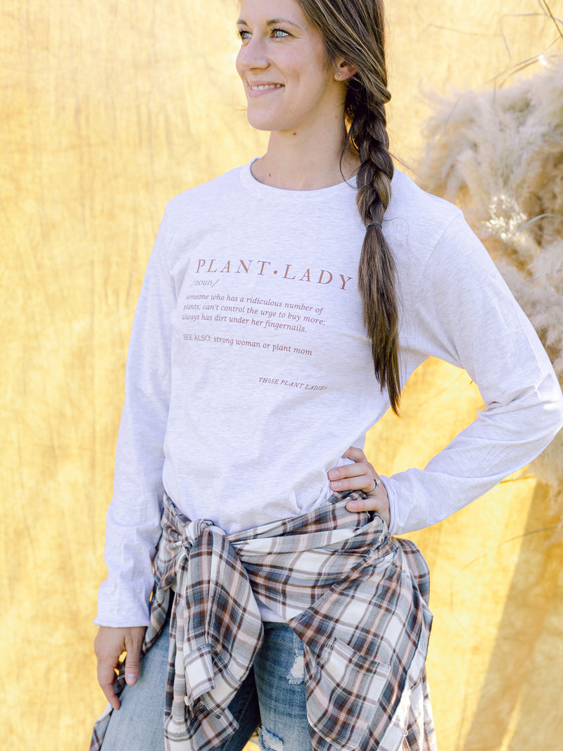 Plant Lady Definition Long-sleeved Tee