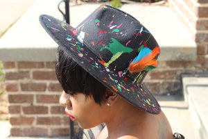 Black Splatter Fedora