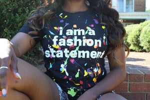 Fashion Statement Splatter Tee