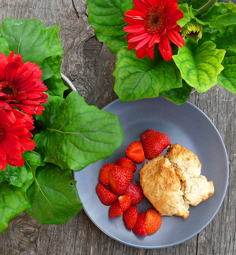shortcake and flowers