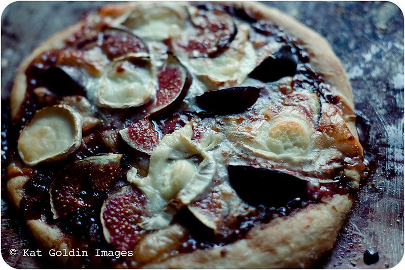 Fig and Goats Cheese Pizza