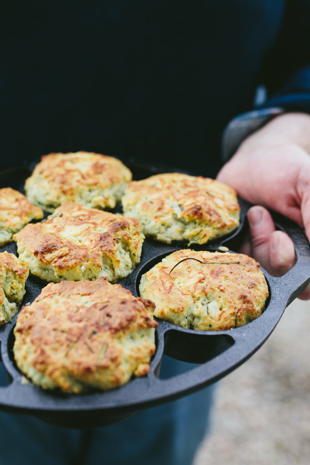 Wild Green and Cheese Scones