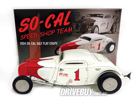 ACME 1934 SO-CAL SALT FLAT FORD COUPE 1/18 SCALE
