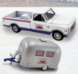 ACME 1:64 SCTA '68 CHEVY PICKUP WITH AIRSTREAM BAMBI CARAVAN