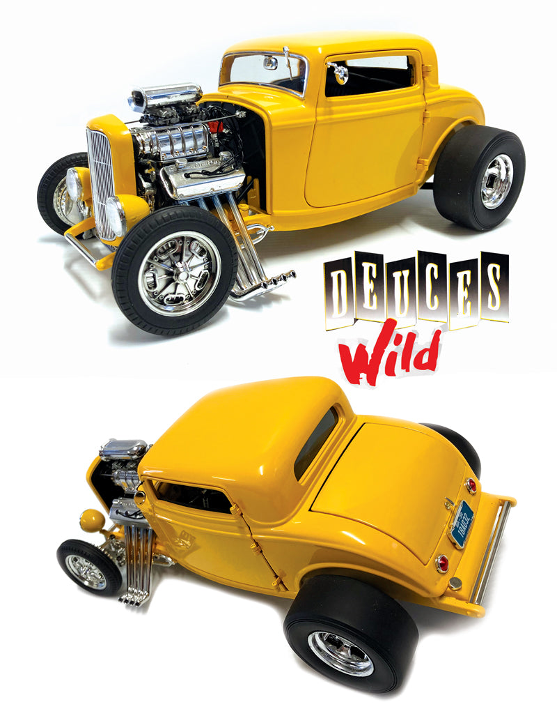 ACME 1932 Ford 3W Coupe 'Deuces Wild' 1:18 Scale