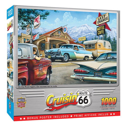 CRUISIN ROUTE66 1,000 PIECE JIGSAW PUZZLE - ON THE ROAD AGAIN