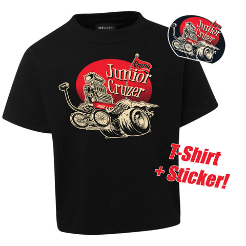 Cruzin 'Junior Cruzer' Kid's Tee & Sticker Pack