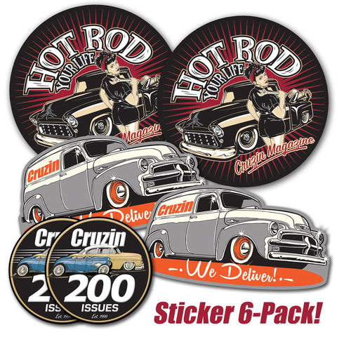 Cruzin Sticker 6-Pack