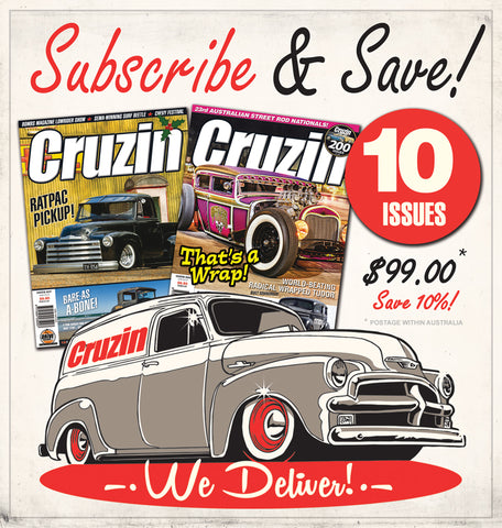 Cruzin Magazine Subscribe or Renew (Australia) 1 Year / 10 Issues