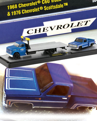 M2 MACHINES 1968 CHEVY C60 TRUCK & 1976 CHEVY PICKUP 1/64
