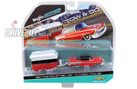 1957 CHEVY BEL AIR AND ALAMEDA CARAVAN TRAILER: MAISTO TOW & GO 1/64