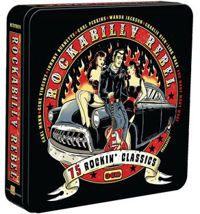 ROCKABILLY REBEL 3 CD SET IN METAL CASE