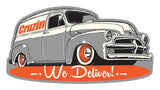 Cruzin Sticker - We Deliver / 54 Chevy