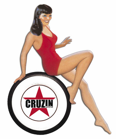 Cruzin Sticker - Hot Rod Gal