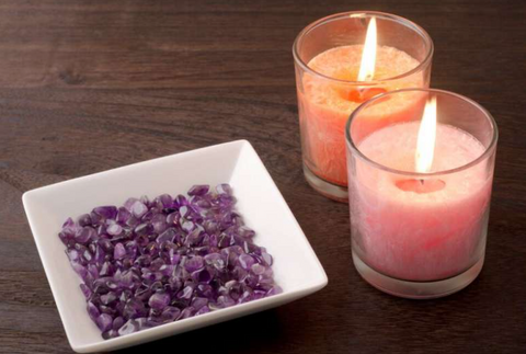 coloured scented candle