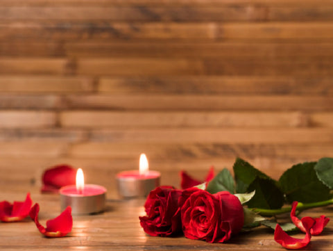 Romantic scented candles