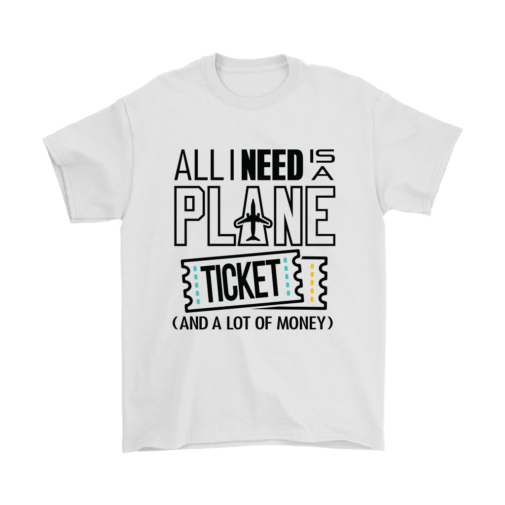 All I Need is a Plane Ticket - Men's T-shirt (white)