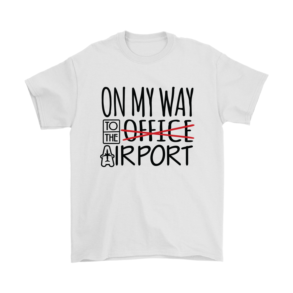 On My Way to the Airport - Men's T-Shirt (white)