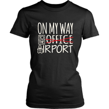 Load image into Gallery viewer, On My Way to the Airport - Women's T-Shirt (black)