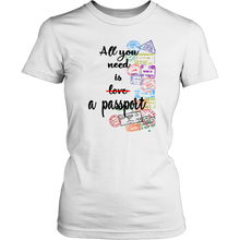 Load image into Gallery viewer, All You Need Is a Passport - Women's T-Shirt (White)