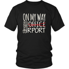 Load image into Gallery viewer, On My Way to the Airport - Men's T-Shirt (black)