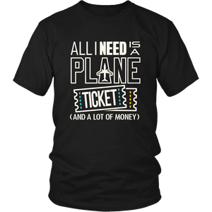 All I Need is a Plane Ticket - Men's T-Shirt (black)