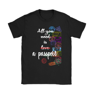 All You Need is a Passport - Women's T-Shirt (black)