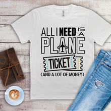 Load image into Gallery viewer, All I Need is a Plane Ticket - Men's T-shirt (white)