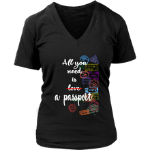 Load image into Gallery viewer, All You Need is a Passport - Women's T-Shirt (black)