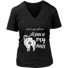 Load image into Gallery viewer, Alpaca My Bags - Women's T-Shirt (black)