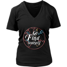 Load image into Gallery viewer, Go Find Yourself - Women's T-Shirt (black)