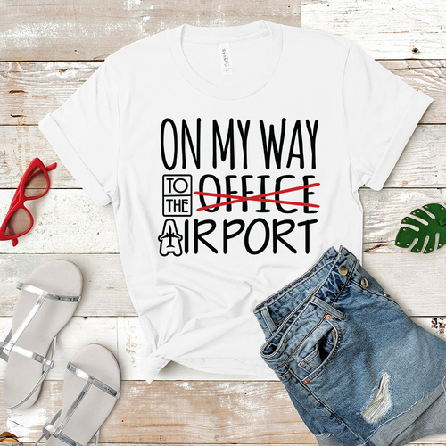 On My Way to the Airport - Women's T-Shirt (white)