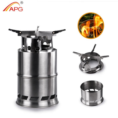 Ultralight Stainless Steel Firewoods Camping Stove