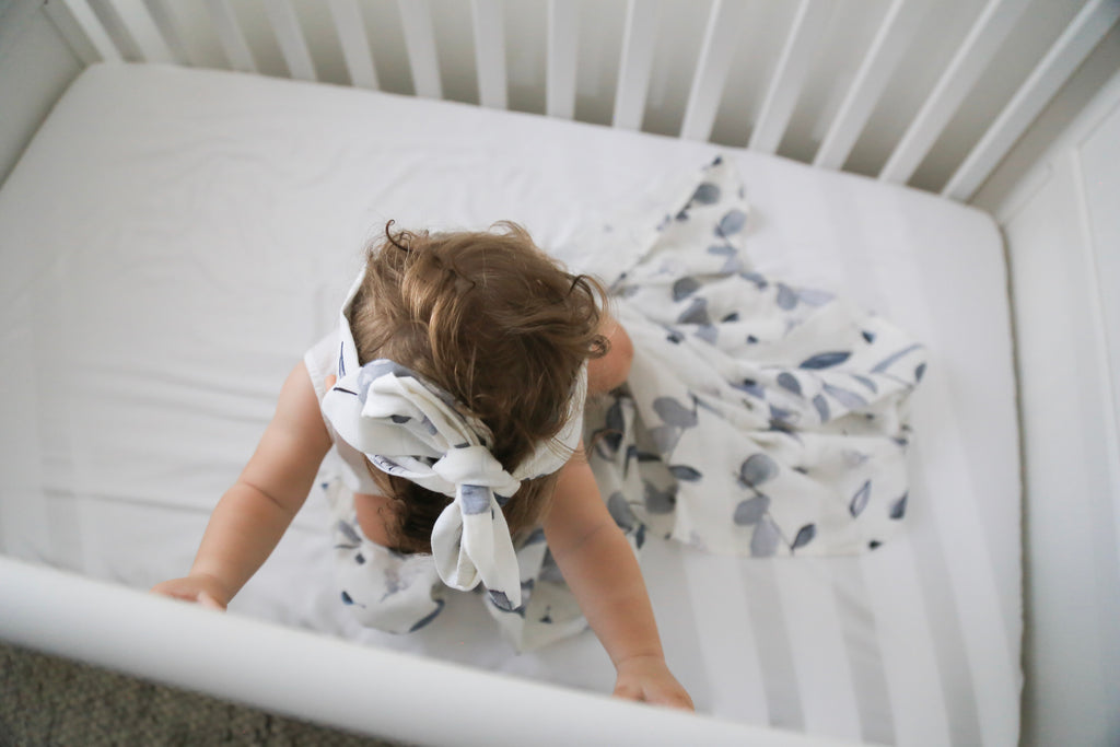 Bamboo Cotton Swaddle - Blue Eucalyptus