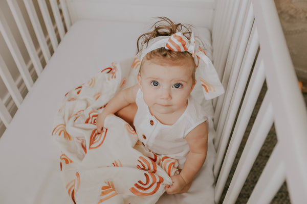 Bamboo Cotton Swaddle - Rust Rainbow