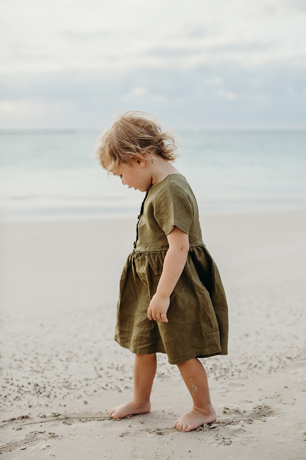 Dakota Dress | Golden Olive