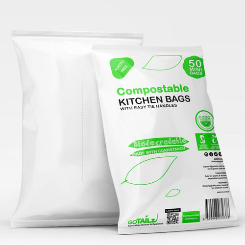Compostable Bin Liner Bags with handles - mini - 50 bags