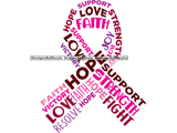 Breast Cancer Quote Clipart Vector