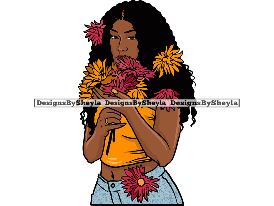 Flower Beauty Queen SVG PNG JPG For Cutting and Printing Clipart Vector