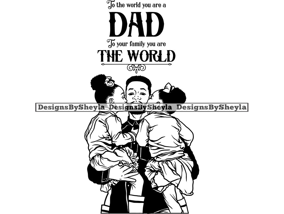 Fathers Day Quote Clipart Vector