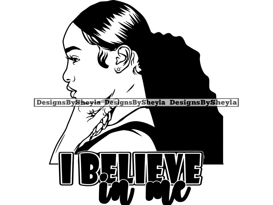 I Believe In Me Quote Clipart Vector